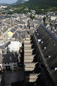 Toit de la cathédrale de Mende